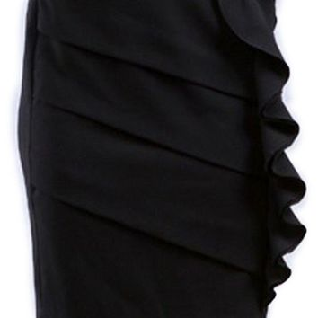 Above the Knee Tiered Ruffle Skirt