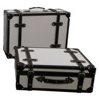 Walmart: Quickway Imports Antique Style Suitcase With Stripes (Set of 2)