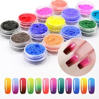 1g Temperature Color Change Holographic Nail Glitter Powder Manicure Nail Art Gradient Powder Change by 31 Temperature