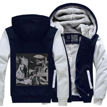 Guernica By Pablo Picasso, BapUp Store Fleece Jacket