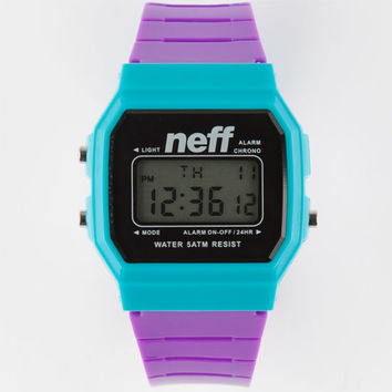Neff Flava Digital Watch Purple Combo One Size For Men 26205976601