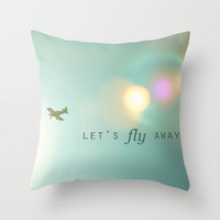 Let's Fly Away Throw Pillow by Kim Fearheiley Photography