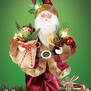 Led Lighted Woodland Santa Carrying Presents
