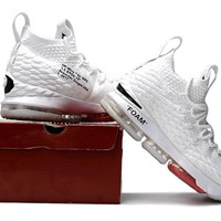 Off White x Nike LeBron 15 Sneaker Shoes Size US 7-12