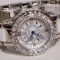Fresh full Rhinestone Ceremics Girl Watch