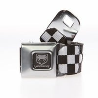 Dodge Viper Seatbelt Buckle Belt - Black & White Checker - Punk.com