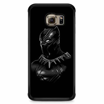 Black Panther Wallpaper With Blue Eyes Samsung Galaxy S6 Edge Case