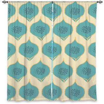 Unique Window Curtains | Zara Martina - Teal Petals
