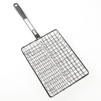 Bobby Flay Flexible Nonstick Wire Grill Basket (Black)