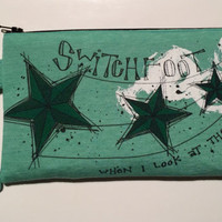 Switchfoot Bag Upcycled When I Look At The Stars Clutch