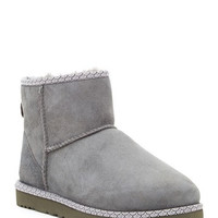 Classic Mini Scallop Leather Genuine Shearling Lined Boot
