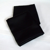 Pillowcases--Full Bed Size Black Bridal Satin