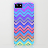 Colorful Chevrons iPhone & iPod Case by Lyle Hatch