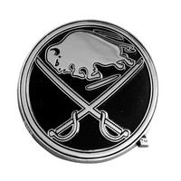 Buffalo Sabres NHL Chrome Car Emblem (2.3in x 3.7in)