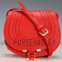 Chloe Marcie Flap Small Shoulder Bag Red Replica Chloe Purse