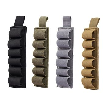New 800D Nylon Hunting Tactical 6 Rounds Shell Holder Multi Purpose Pouch 12 Gauge Ammo Carrier Magic Paste Holster