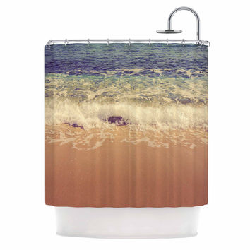 "Violet Hudson ""Crashing Waves"" Beach Coastal Shower Curtain"