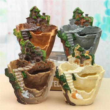 Hot Sale DIY 4 Styles Sky Garden Mini Succulent Plants Planter Flower Pot Herb Box Home Decor Ornaments