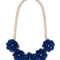 Navy Jumbo Bloom Bib