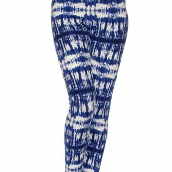 Blue Tie-Dye Hippy printed Leggings