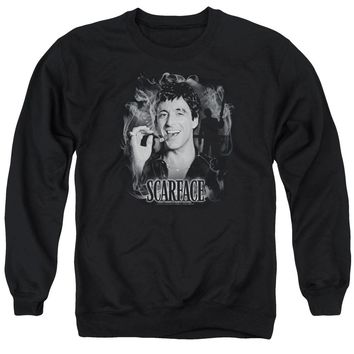 Scarface - Smokey Scar Adult Crewneck Sweatshirt