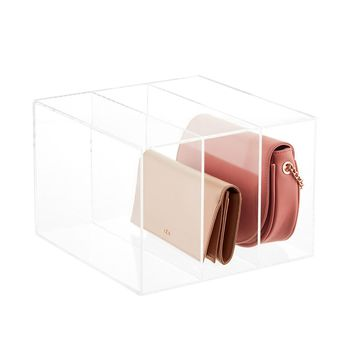 Acrylic 3-Compartment Clutch & Small Purse Organizer