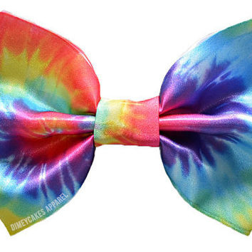 Tie Dye Hair Bow by Dimeycakes on Etsy