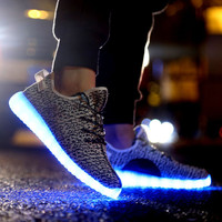 Dye Pattern Lace Up Led Sneakers
