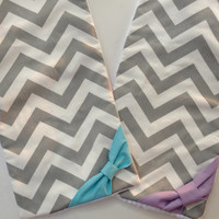 You pick 2 Chevron Burp Cloth with Bow, Baby Burp Cloth