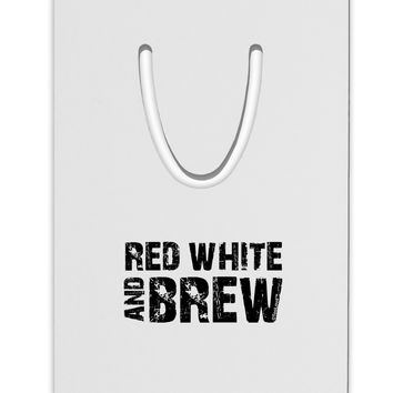 Red White and Brew Aluminum Paper Clip Bookmark by TooLoud
