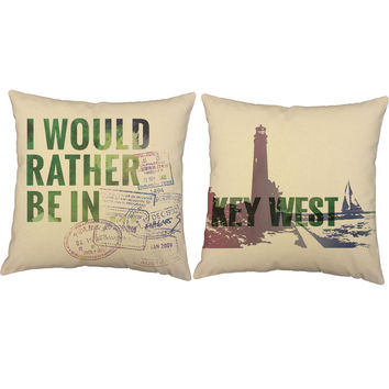 Rather Be In Key West Throw Pillows