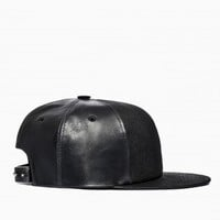 Leather snapback from the S/S2014 Rick Owens DRKSHDW collection in black