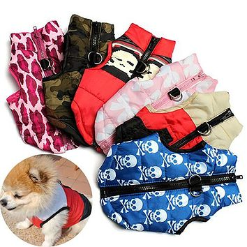 Pet Winter Thick Vest Apparel Clothing Dog Cat Coat Jacket Clothes Puppy Costume