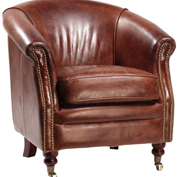 Bourges Vintage Leather Club Chair