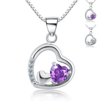 Triple Hearts Necklace - 925 Sterling Silver