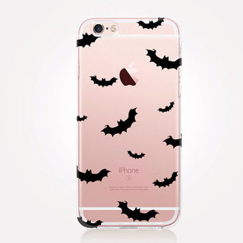 Transparent Bats Halloween Phone Case - Transparent Case - Clear Case - Transparent iPhone 6 - Transparent iPhone 5 - Samsung S7 - iPhone SE
