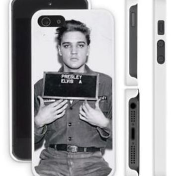Young ELVIS PRESLEY Mugshot Apple iPhone 4 4s 5 5s 6 Plus Phone Case Cover