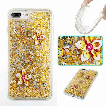 iPhone 8 Plus Case, iPhone 7 Plus Case, Fisel Cool Quicksand Moving Sand Flowing Liquid Defender Bumper Floating Luxury Bling Glitter Sparkle Hard Case For iPhone 8 Plus (2017)/ iPhone 7 Plus (2016)