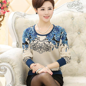 New 2016 cashmere sweater women autumn and winter sweater female plus size pullover wool basic shirt Large size women