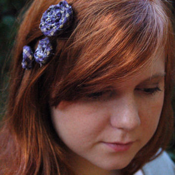 Custom Rustic Roses Hair Accessories Choose size, amount, color and style