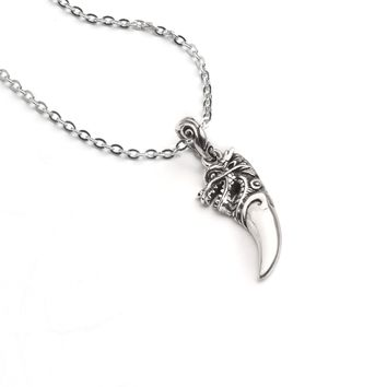 Carved Dragon Tooth Necklace
