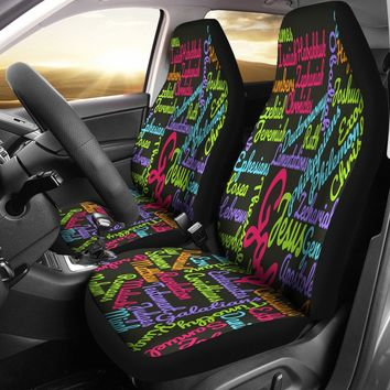 Custom-Made Holy Bible Books Pink Mixed Colors Car Seat Covers