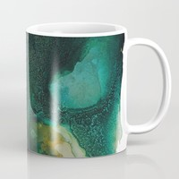 Green and Gold Coffee Mug by duckyb