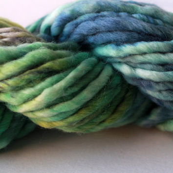 Frog Pond - Super Bulky Alpaca and Wool Blend Hand-Dyed Yarn - 44yds 3.5oz 100g