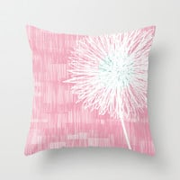 Flowers - Pink Throw Pillow by friztin