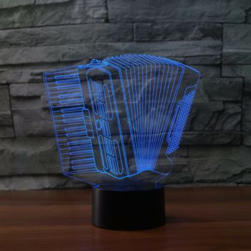 Accordion  3D  Lamp 8 Changeable Color [FREE SHIPPING]