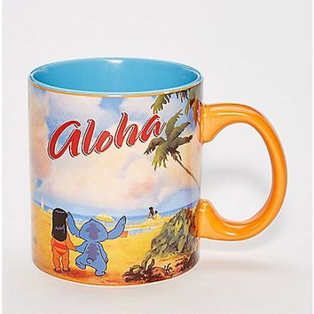Aloha Lilo & Stitch Coffee Mug 20 oz. - Disney - Spencer's
