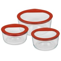 Pyrex® No Leak™ Storage Glass Containers