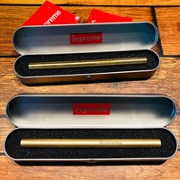 Supreme Unisex Vintage Pen Pattern Shiny Ball Pen [429897023524]