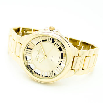 Roman numeral metal watch (3 colors)